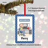 Receptionist Ornament Male - Personalized