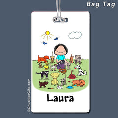 Animal Lover Bag Tag Female Personalized