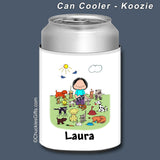 Animal Lover Can Cooler Female Personalized