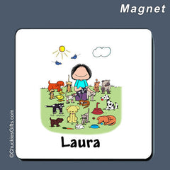 Animal Lover Magnet Female Personalized