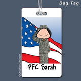 Military Bag Tag Female Personalized