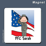 Military Magnet Female Personalized