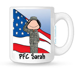 Military Mug Female Personalized