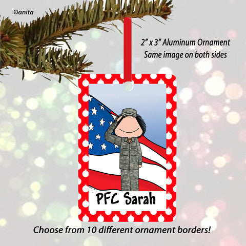 Military Ornament Female - Personalized