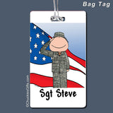 Military Bag Tag Male Personalized