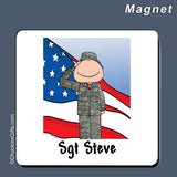 Military Magnet Male Personalized