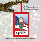 Military Ornament Male - Personalized