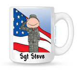Military Mug Male Personalized