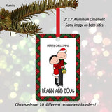 Christman Couple Ornament- Personalized