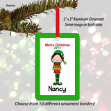Elf Female Personalized Ornament