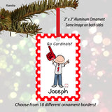Baseball Fan Ornament Male Personalized