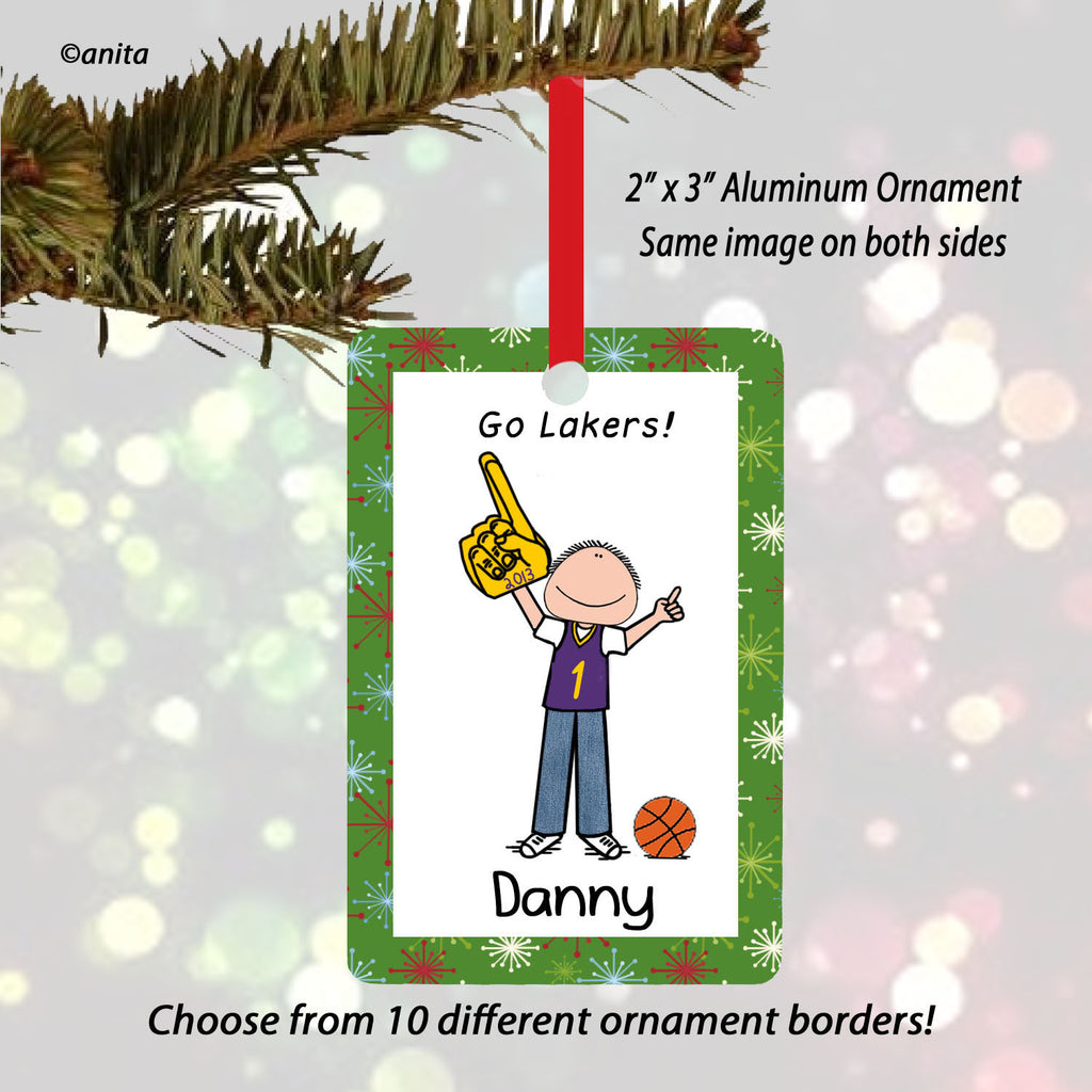 Basketball Fan Ornament Male Personalized