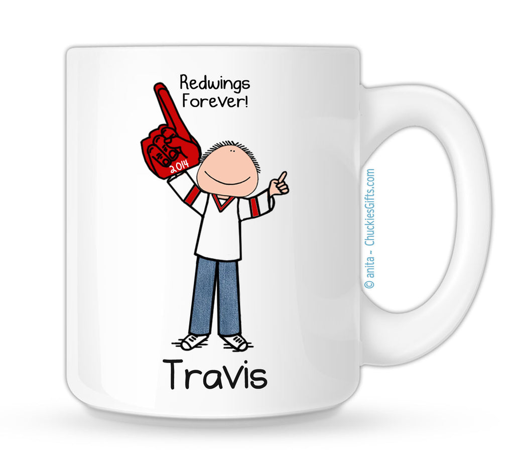 Hockey Fan Mug Male Personalized