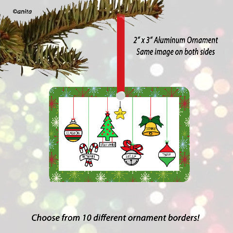 Christmas Hanging Ornament  2-6 Ornaments