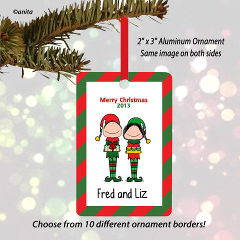 Elves Couple Ornament