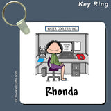 Office Cubicle Key Ring Female Personalized