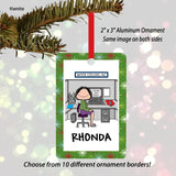Office Cubicle Ornament Female Personalized