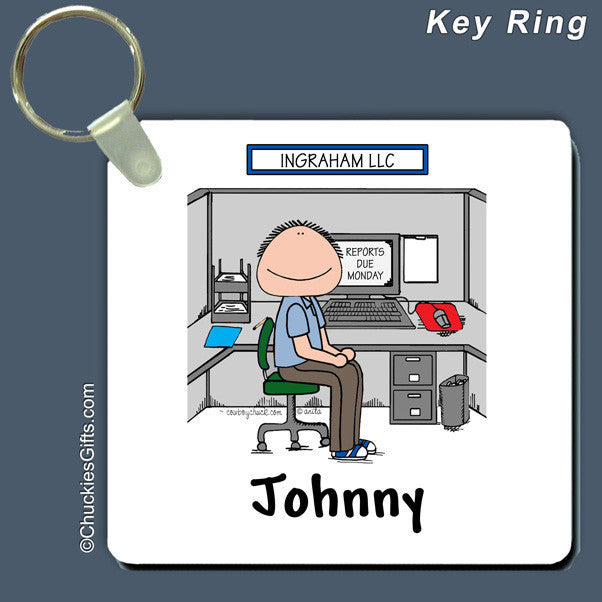 Office Cubicle Key Ring Male Personalized