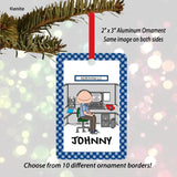 Office Cubicle Ornament Male Personalized