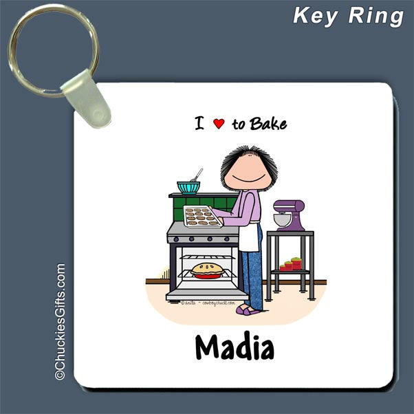 Baker Key Ring Female - Personalized 2635