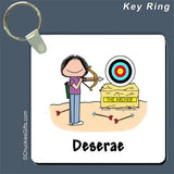 Archer Key Ring Female - Personalized 2639