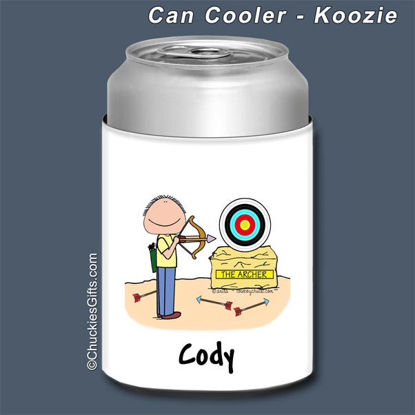 Archer Can Cooler Male - Personalized 2640