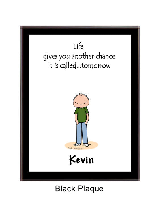 Life Plaque Male - Personalized 3018