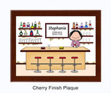 Bartender Plaque Female - Personalized 8013
