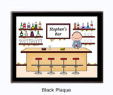 Bartender Plaque Male - Personalized 8014