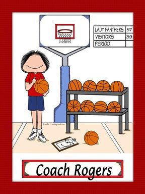 Basketball Coach Cartoon Picture