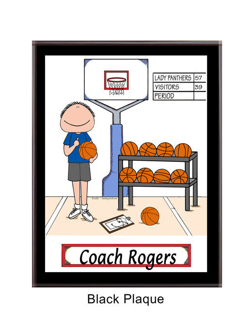 Basketball Coach Plaque