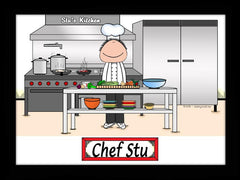 Chef Cartoon Picture with Hat Male Personalized 8024