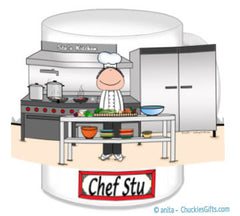 Chef Mug Male with Hat - Personalized