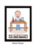8026 Lab Worker Plaque Male - Personalized