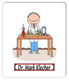 8026 Lab Worker Mouse Pad Male - Personalized