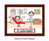 Dentist Female - Personalized Plaque