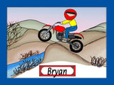 Dirt Biker Cartoon Picture Male - Personalized 8034