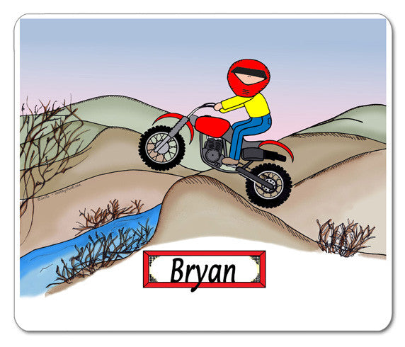 Dirt Biker Mouse Pad Male - Personalized