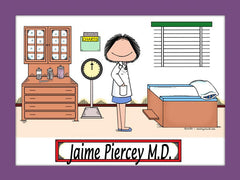 Doctor Cartoon Picture Female Personalized 8037