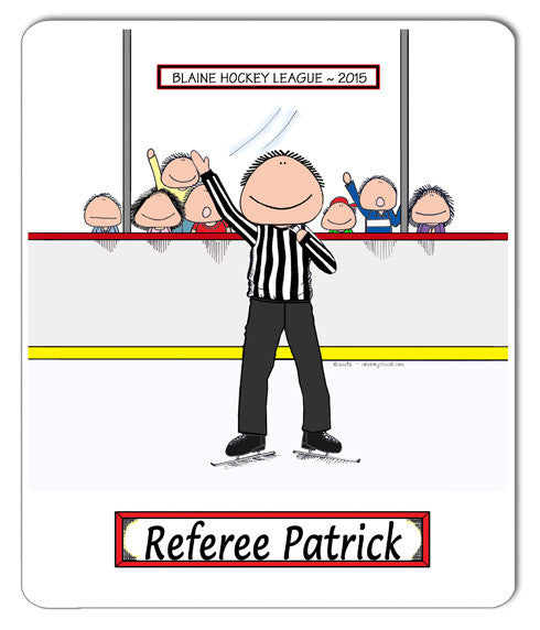 Hockey Referee Mouse Pad