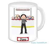 Hockey Referee Mug Female - Personalized 8043
