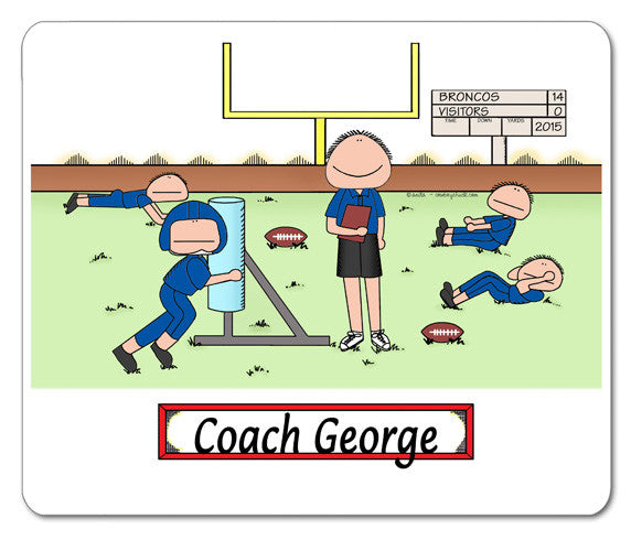 Football Coach Mouse Pad Male Personalized
