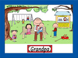 Grandfather Cartoon Picture Male - Personalized 8052