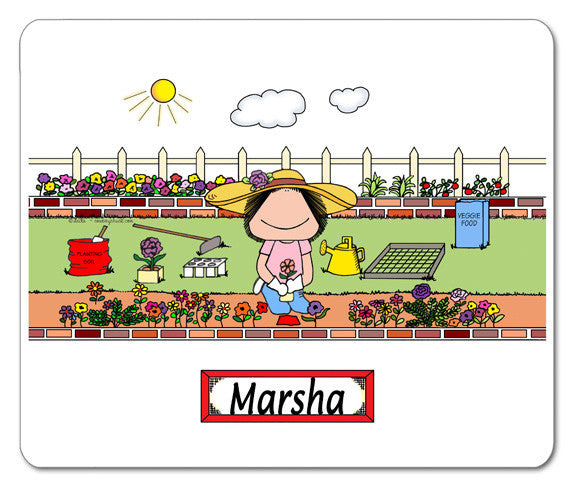 Gardening Mouse Pad Female Personalized
