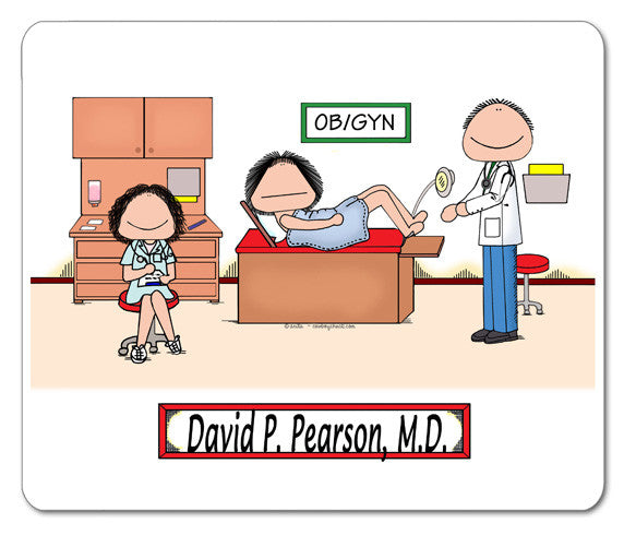 OB/GYN Doctor Mouse Pad | Personalized Medical Gifts – Cowboy Chuck ...