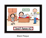 OB/GYN Doctor Plaque Male - Personalized