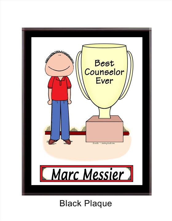 Award Trophy Plaque Male - Personalized 8082