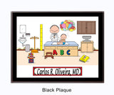 Pediatrician Plaque Male - Personalized