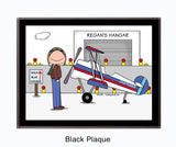 Pilot Plaque Male - Personalized