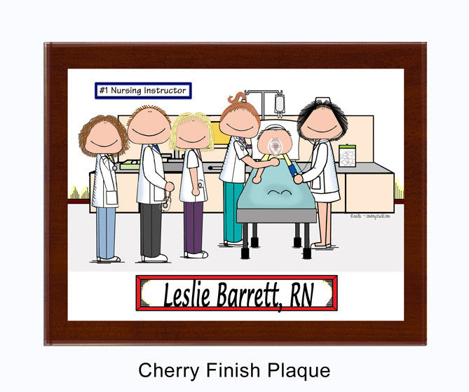 Nursing Instructor Plaque Female - Personalized